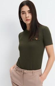Zielony t-shirt Mohito z krótkim rękawem