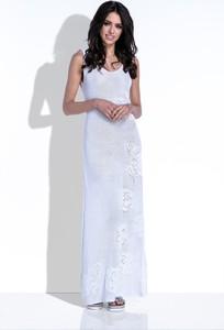 Sukienka Fobya na ramiączkach prosta z lnu