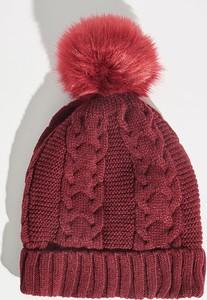 Czerwona czapka Sinsay w stylu casual
