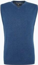 Niebieska kamizelka Finshley & Harding z kaszmiru