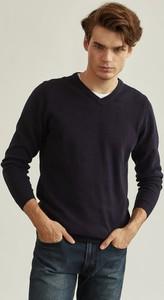 Granatowy sweter Pako Lorente w stylu casual z bawełny