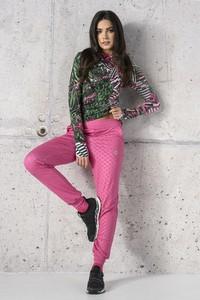 Różowe spodnie Nessi Sportswear z dresówki