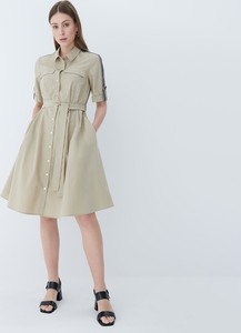 Sukienka Mohito mini w stylu casual z długim rękawem