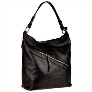 Czarna torebka Borse in Pelle na ramię