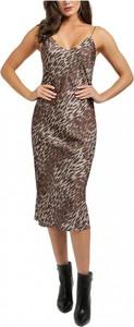 Sukienka Guess z dekoltem w kształcie litery v midi