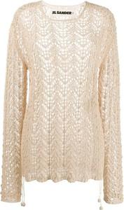 Złoty sweter Jil Sander w stylu casual