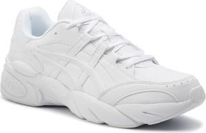Buty sportowe ASICS sznurowane ze skóry ekologicznej