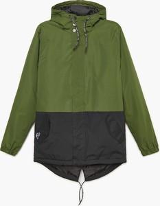 Zielona kurtka Cropp krótka