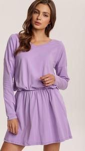 Fioletowa sukienka Renee trapezowa mini