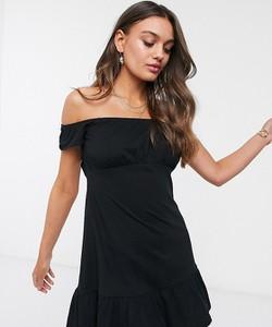 Czarna sukienka Asos mini baskinka