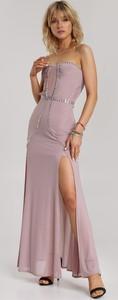 Fioletowa sukienka Renee maxi bez rękawów