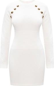 Sukienka Balmain z golfem w stylu casual mini