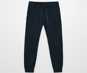 Granatowe spodnie Cropp w stylu casual