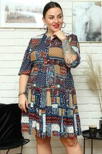 Sukienka KARKO mini z długim rękawem