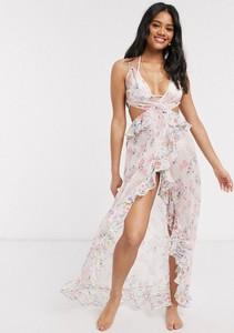Sukienka Asos z żakardu z dekoltem w kształcie litery v