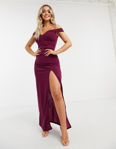 Fioletowa sukienka Ax Paris z krótkim rękawem