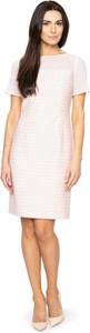 Różowa sukienka POTIS & VERSO z szyfonu