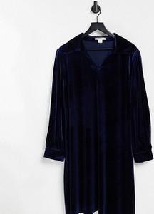 Niebieska sukienka Glamorous Curve prosta