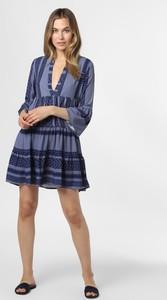 Niebieska sukienka AYGILL'S z długim rękawem z dekoltem w kształcie litery v