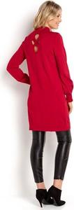 Czerwona sukienka Happy Holly z dzianiny w stylu casual midi