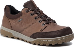 Brązowe buty sportowe Ecco z goretexu