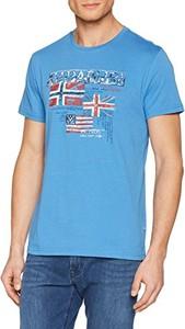 Błękitny t-shirt napapijri