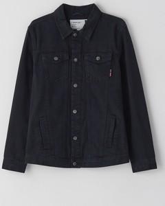 Czarna kurtka Cropp w stylu casual z jeansu