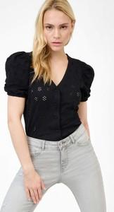 Czarna bluzka ORSAY z tkaniny z krótkim rękawem w stylu casual