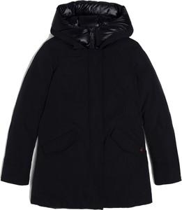 Czarna kurtka Woolrich w stylu casual