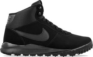 Buty zimowe Nike sznurowane w street stylu ze skóry