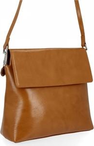 Brązowa torebka Diana&Co ze skóry ekologicznej