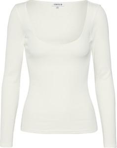 Bluzka EDITED w stylu casual z okrągłym dekoltem z tkaniny