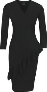 Sukienka Pinko z wełny dopasowana z długim rękawem