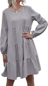 Sukienka Cikelly mini w stylu casual z okrągłym dekoltem