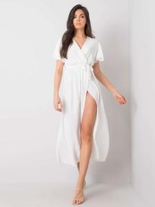 Sukienka Promese z dekoltem w kształcie litery v z krótkim rękawem