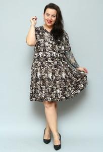 Sukienka KARKO mini z dzianiny w stylu casual