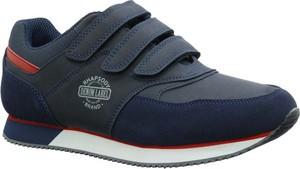 Buty sportowe American Club z płaską podeszwą sznurowane