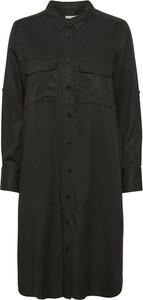 Czarna sukienka Part Two w stylu casual