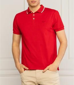 Czerwona koszulka polo Emporio Armani w stylu casual