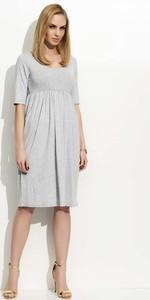 Sukienka Makadamia midi z krótkim rękawem z dekoltem w kształcie litery v