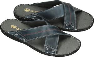 Granatowe buty letnie męskie Darbut ze skóry