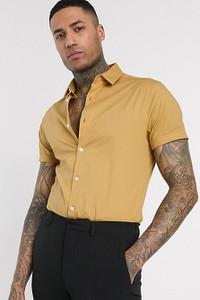 Żółta koszula Asos z klasycznym kołnierzykiem