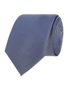 Niebieski krawat Olymp z jedwabiu