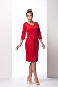 Czerwona sukienka issysklep.pl midi tulipan