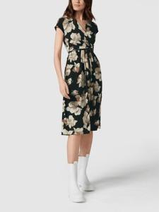Sukienka MaxMara Studio z krótkim rękawem z dekoltem w kształcie litery v midi