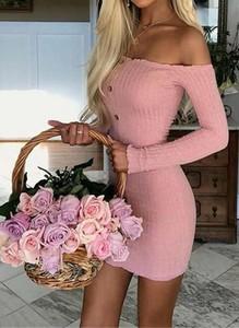 Sukienka Cikelly hiszpanka mini z długim rękawem