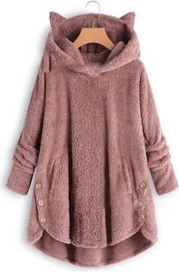 Różowy płaszcz Kendallme w stylu casual