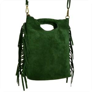 Zielona torebka Borse in Pelle w stylu boho