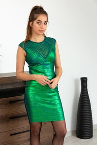 Zielona sukienka Butik Ecru mini