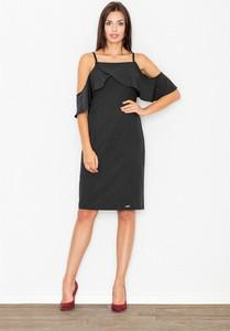 Czarna sukienka Figl hiszpanka midi